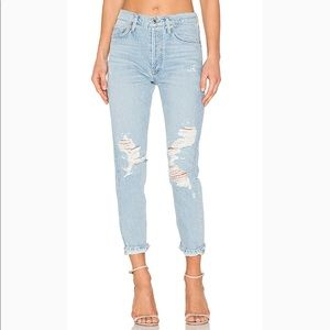 AGOLDE Jamie High Rise Classic Evermore Jeans 26